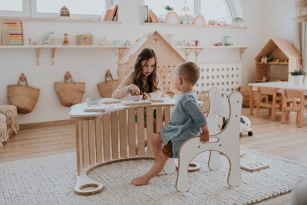 ergonomiczne krzeselko dla dziecka do bujaka good wood
