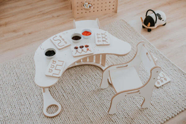 zestaw montessori bujak z blatem dla dziecka good wood